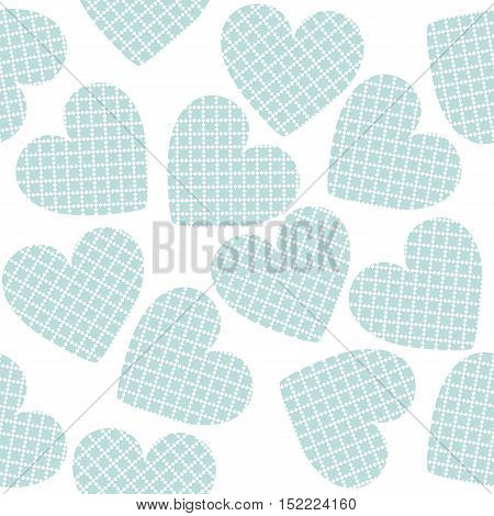 Seamless pattern with stylish hearts. St Valentine's day background. Trendy hearts for your designs.