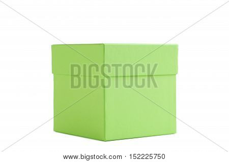 Green box isolated on a white background