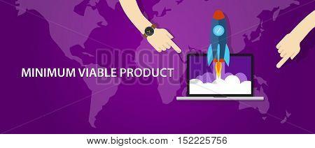 MVP minimum viable product rocket launch vector