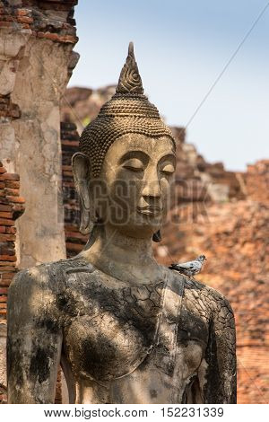 A carving of grate buddha in Nepal