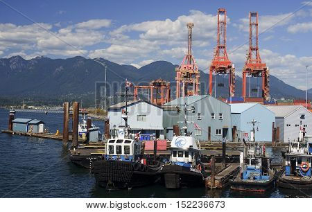 Vancouver, Canada - August 24, 2016: Port Zone In The City Cente