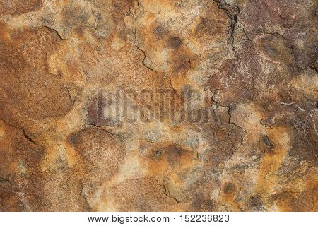 Texture with cracks and rusty metal relief