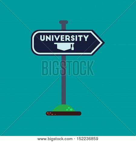 flat icon on stylish background University sign