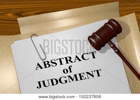 Abstract Of Judgment - Legal Concept