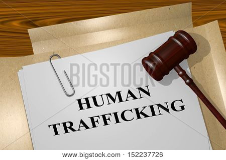 Human Trafficking Concept
