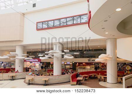 Minsk, Belarus - October 8, 2016: A Cafe In A Shopping Center Minsk City Minsk Belarus