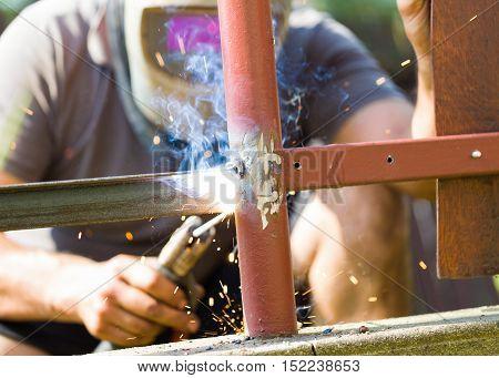 Welding Fence Metal Parts