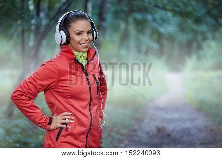 Confident Happy Sportswoman