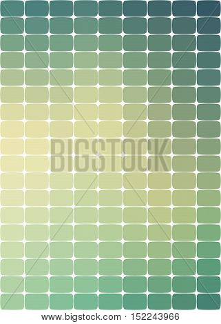 background with rounded rectangles in different shades of green