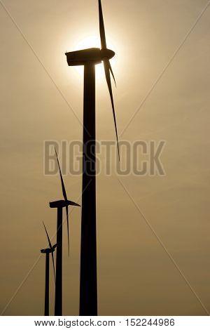 Windmills for electric power production, Pozuelo de Aragon, Zaragoza Province, Aragon, Spain.