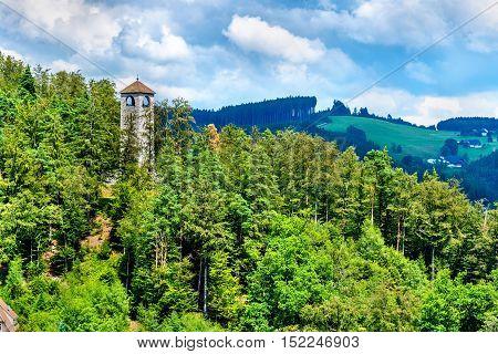 View of Triberg im Schwarzwald town - Germany, Baden-Wurttemberg
