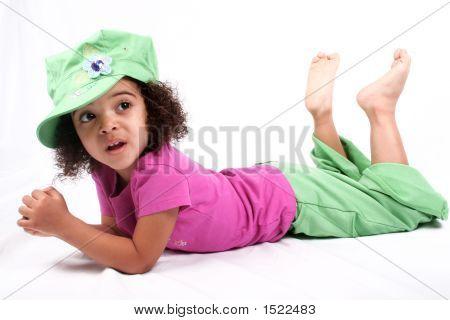 Girl In Green Hat