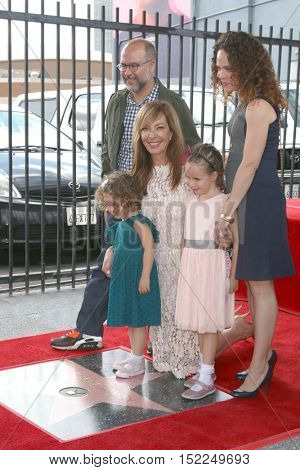 LOS ANGELES - OCT 17:  Allison Janney, Family at the Allison Janney Hollywood Walk of Fame Star Ceremony at the Gower and Hollywood on October 17, 2016 in Los Angeles, CA