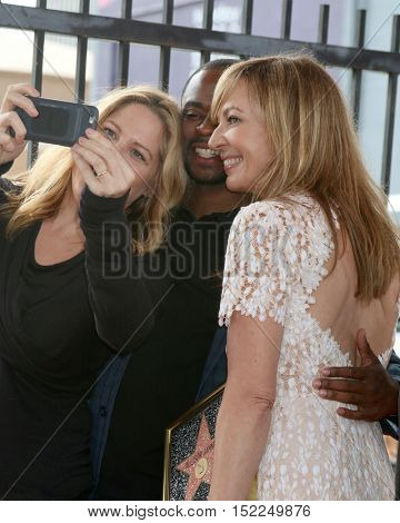 LOS ANGELES - OCT 17:  Mary McCormick, Dule Hill, Allison Janney at the Allison Janney Hollywood Walk of Fame Star Ceremony at the Gower and Hollywood on October 17, 2016 in Los Angeles, CA