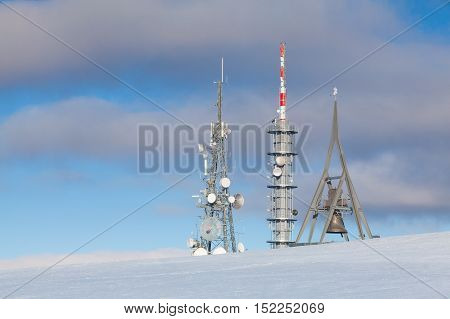 Telecommunication towers at Kronplatz (Plan de Corones) Italy