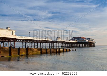 Cromer beach and Pier in Norfolk during a sunrise in the summerGreat Britain