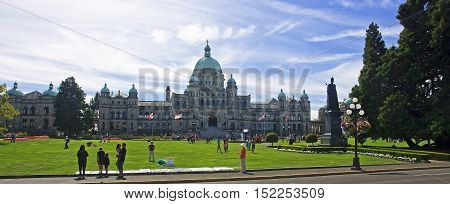 Victoria, Canada - August 27, 2016: Legislative Assembly On 27 A