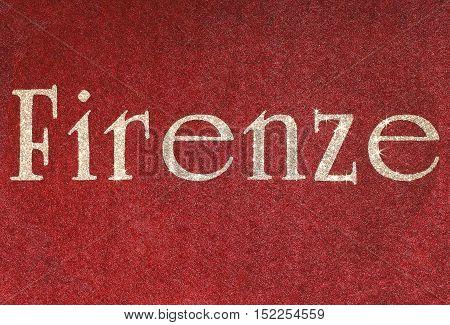 Firenze Written Of An Italian City With Glitter Font
