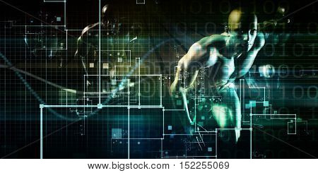 Artificial Intelligence AI Neural Network Logic Art 3d Illustration Render