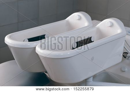 Electrotherapy. Therapy tub. Galvanic bath tub. Electrotherapy. Therapy tub.