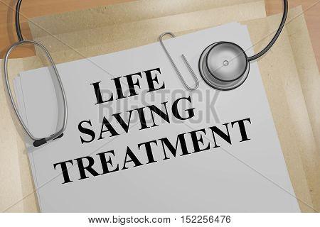 Life Saving Treatment Concept