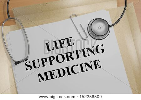Life Supporting Medicine Concept