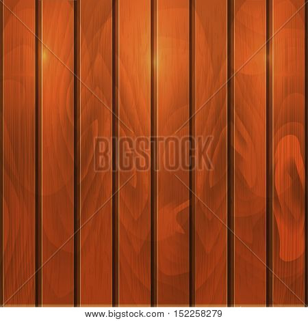 Wood Planked Texture. Vector illustration, wooden background with spotlight