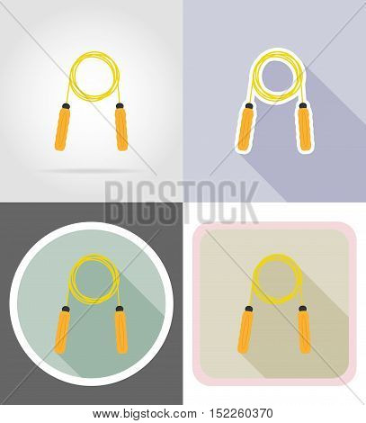 skipping rope flat icons vector illustration isolated on background