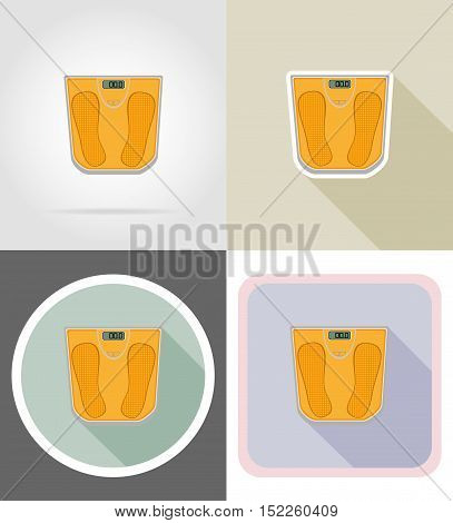 floor scale flat icons vector illustration isolated on background