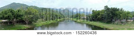 Panorama of Khiriwong village Nakhon Si Thammarat Province The best weather in Thailand