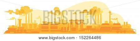 flat illustration Industrial plant on a background
