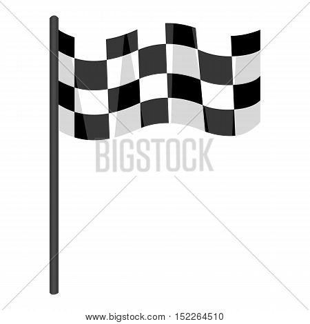 Checkered flag icon monochrome. Single sport icon from the big fitness, healthy, workout monochrome.