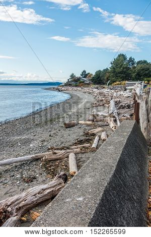 A view of the West Seattle shoreline.