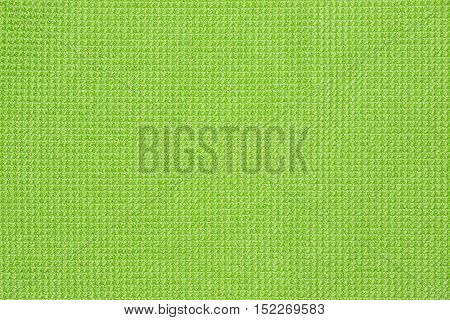 Green microfiber cloth and green microfiber texture of microfiber towel for design with copy space for text or image.