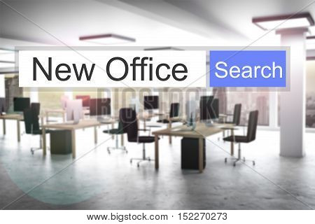 websearch new blue search button modern office 3D Illustration
