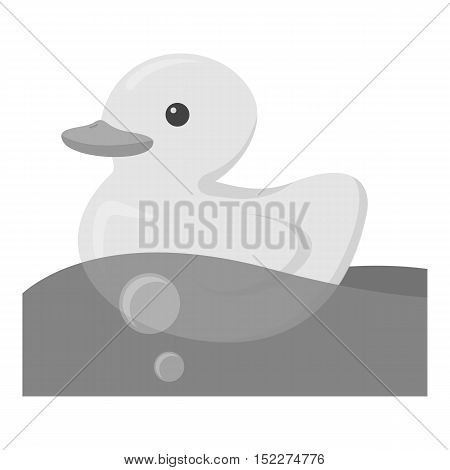 Duck toy monochrome icon. Illustration for web and mobile.