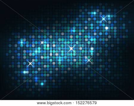 Blue shiny mosaic background. Vector abstract illustration.