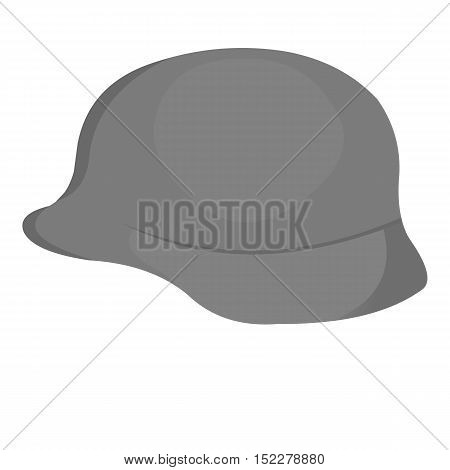 Soldier helmet military icon monochrome. Single weapon icon from the big ammunitio, arms monochrome.