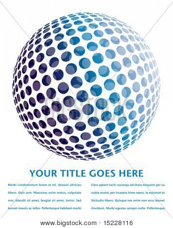 Bunte digitalen Globus-Design mit Textfreiraum.