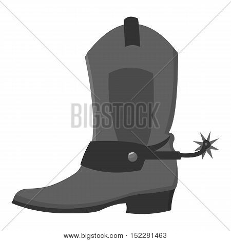Cowboy boot icon monochrome. Singe western icon from the wild west monochrome.