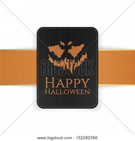 Halloween Holiday creepy Card Template. Vector Illustration