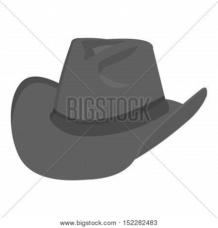 Cowboy hat icon monochrome. Singe western icon from the wild west monochrome.