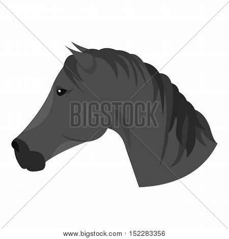 Muzzle horse icon monochrome. Singe western icon from the wild west monochrome.