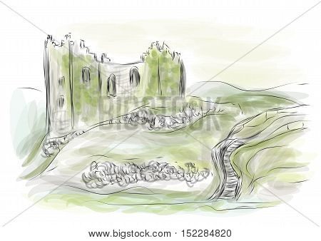 county kerry ireland abstract illustration. 10 EPS