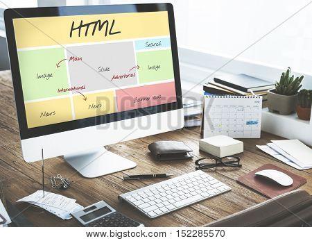 HTML Website Content Web Design Concept