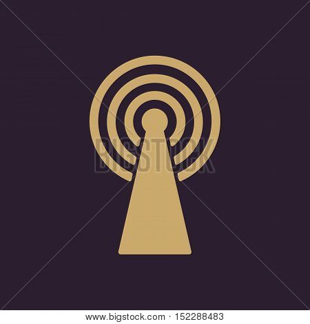 The wireless icon. wifi symbol. Flat Vector illustration