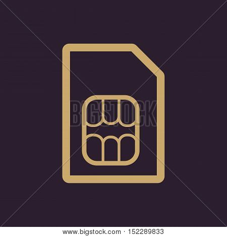 The sim card icon. Sim card symbol. Flat Vector illustration