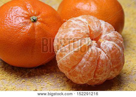 mandarin a brown Wooden Background mandarin Fruit