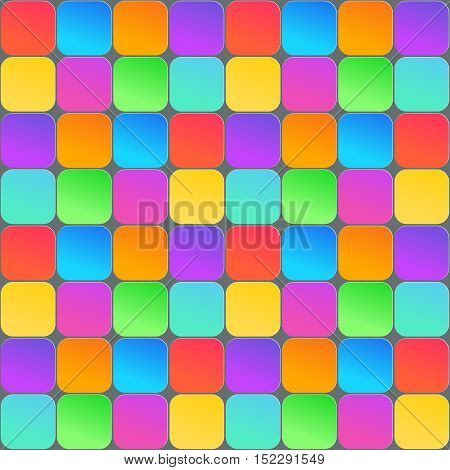 Abstract 3d geometric background. Colorful seamless texture with shadow. Simple clean background texture. 3D Vector interior wall panel pattern. Vector illustration.