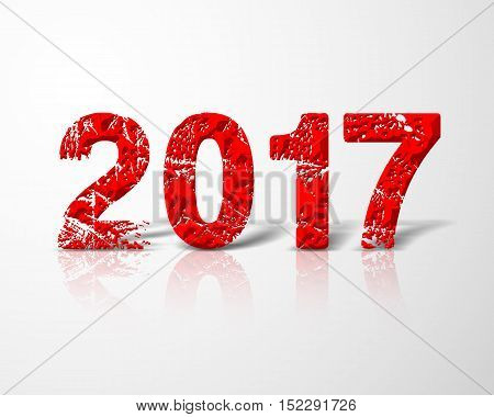 Red happy new year 2017 for business